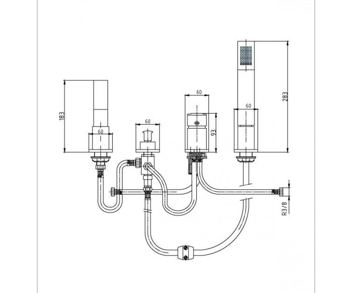 Смеситель для ванны ECA ELIDIS М 086 402101034