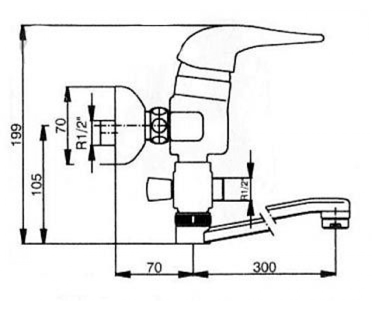 Смеситель для ванны ECA MIX 2000 М 138 402102162