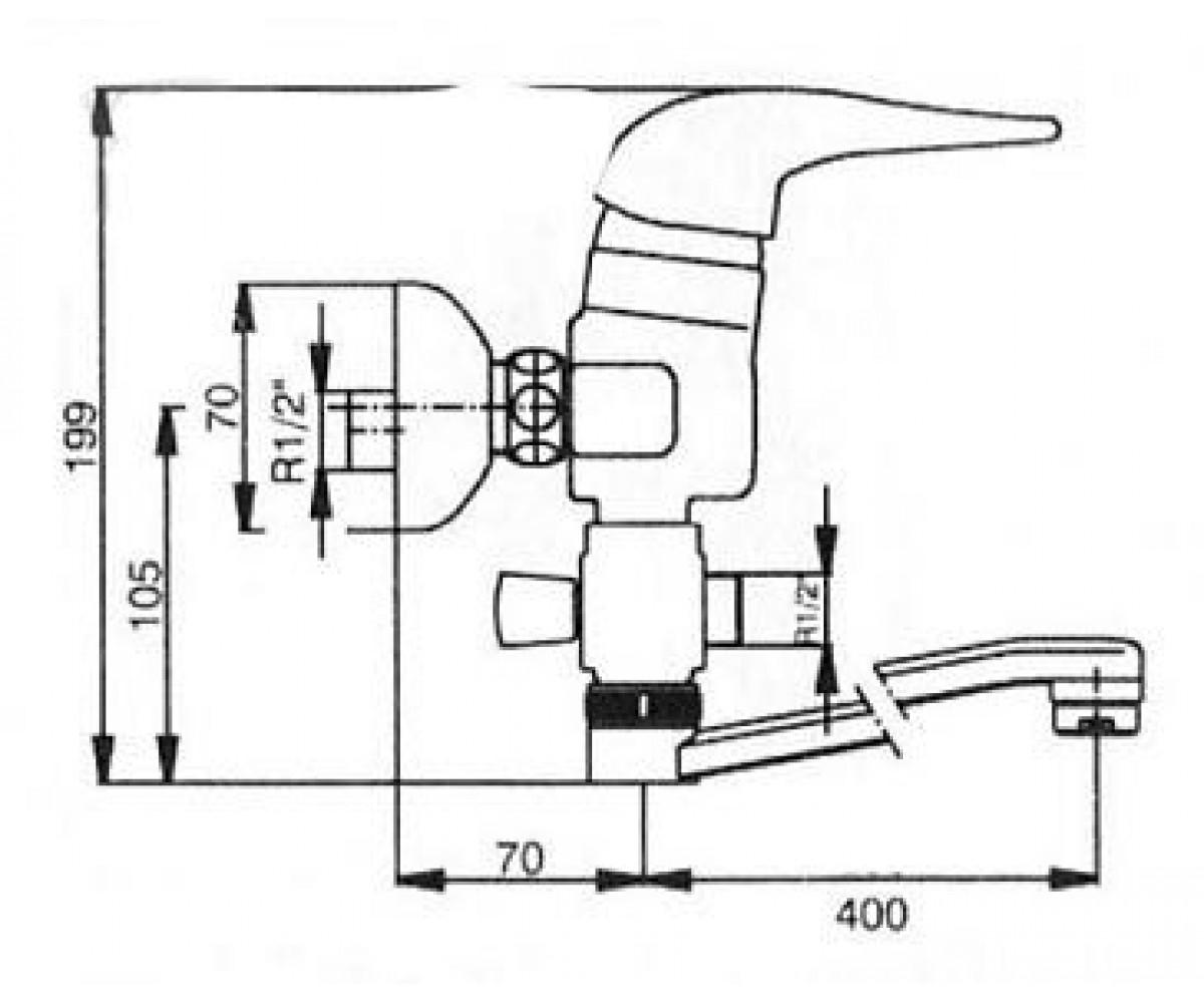 Смеситель для ванны ECA MIX 2000 М 137 402102164