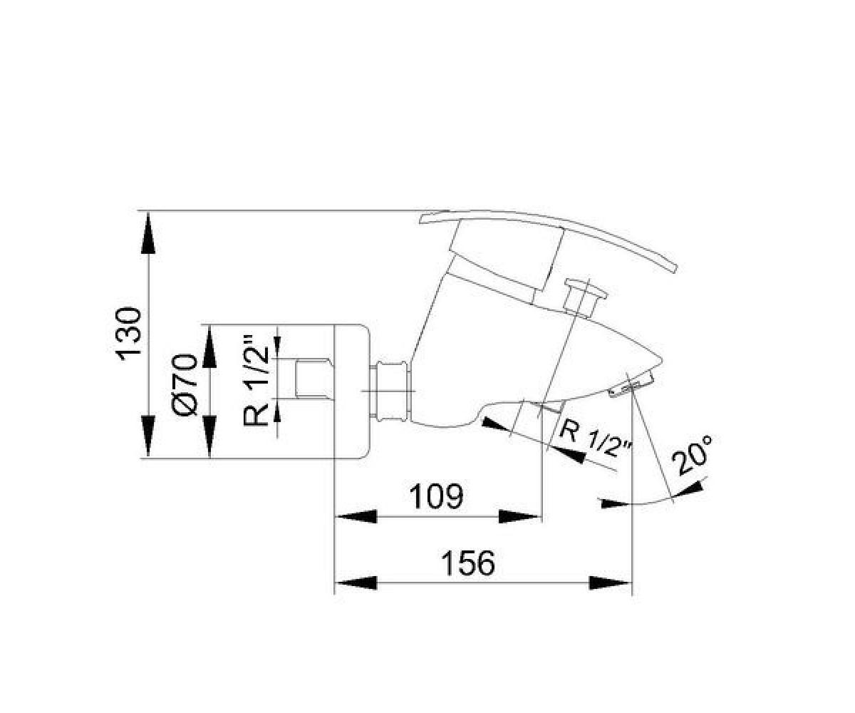 Смеситель для ванны ECA MIX CUBIC М 160 402102166