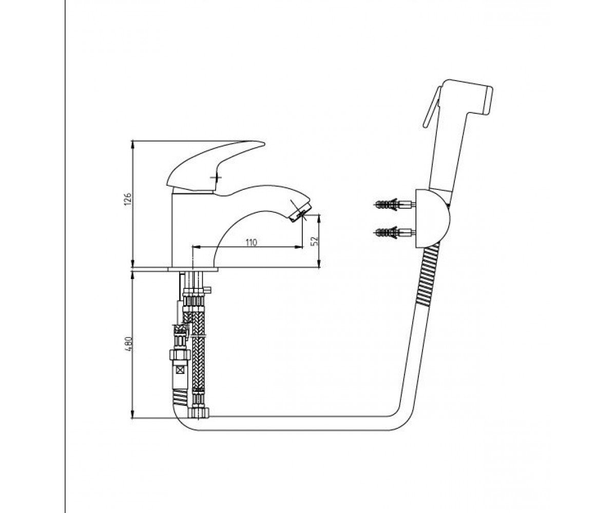 Смеситель для раковины E.C.A MIX P М 210 402110041