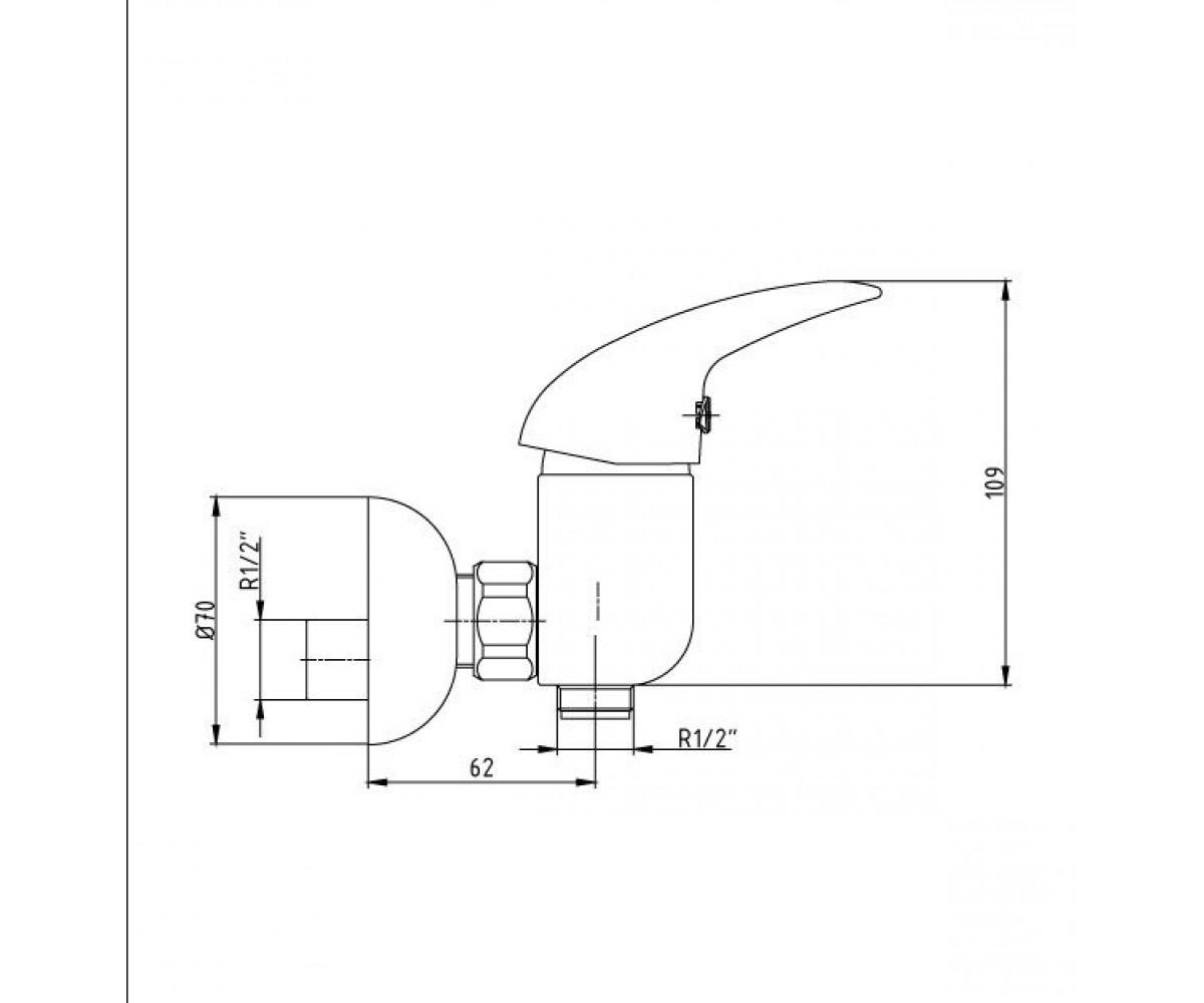 Смеситель для душа ECA MIX P М 190 402154002