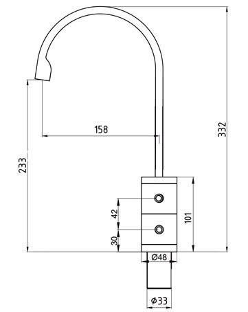 Смеситель для кухни ECA Primemix Plus M481 102118050
