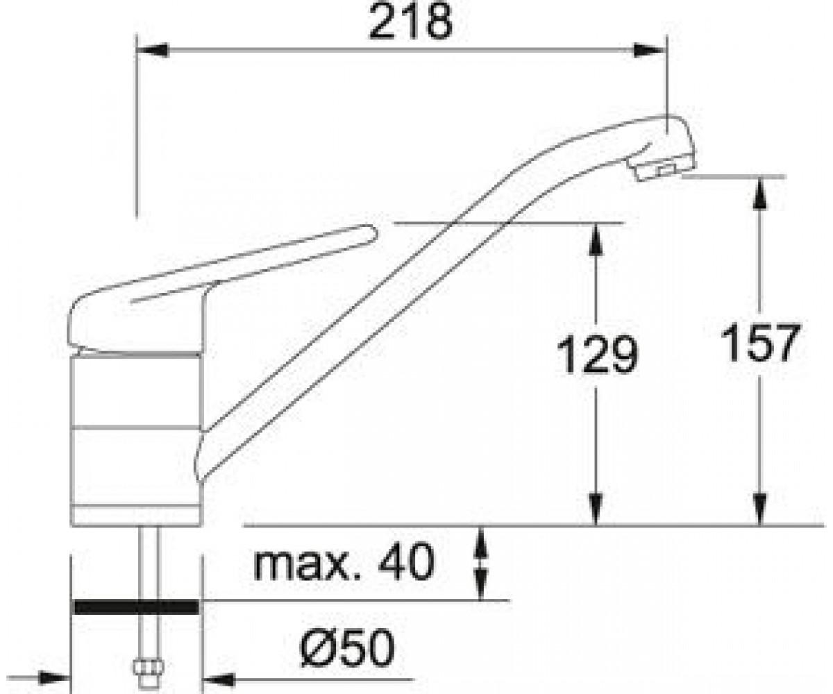 Кухонный смеситель FRANKE TUGELA 115.0029.707