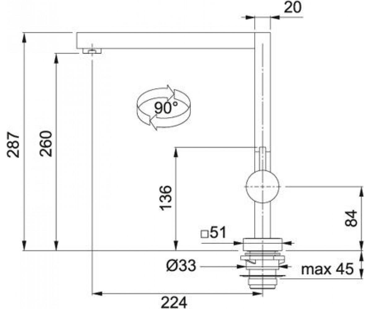 Смеситель для мойки FRANKE Planar 115.0045.945 с подсвечиванием