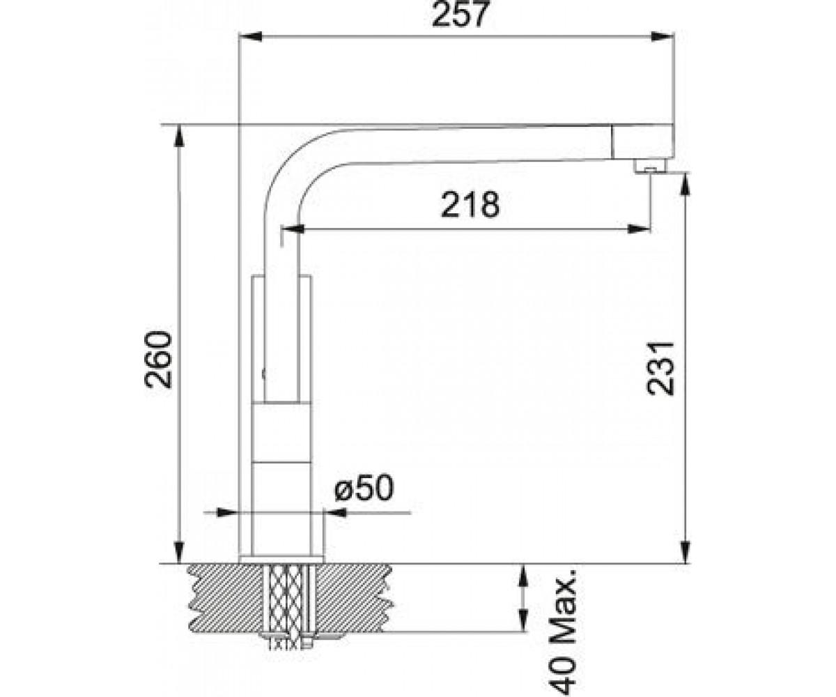 Смеситель FRANKE Planar 115.0055.130
