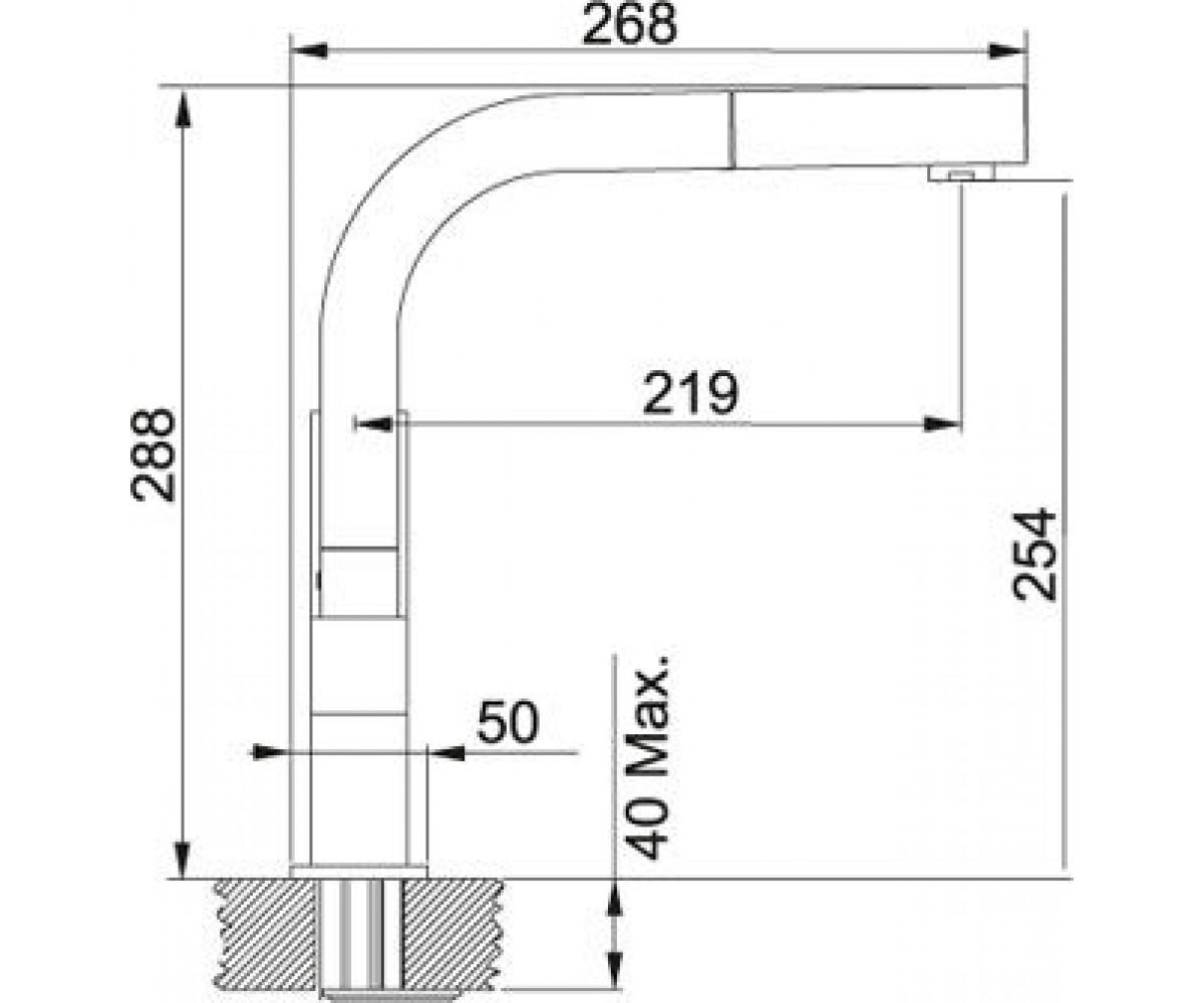 Смеситель FRANKE Planar 115.0055.131