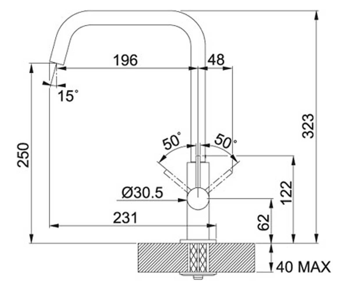 Кухонный смеситель FRANKE MARIS 115.0205.574 графит