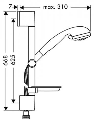 Душевой набор HANSGROHE Crometta Vario 27744000