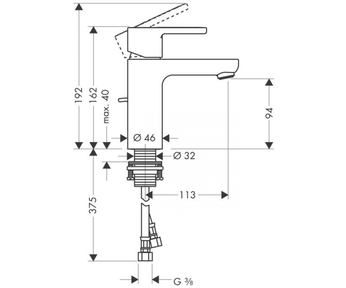 Смеситель для раковины HANSGROHE METROPOL S 14061000