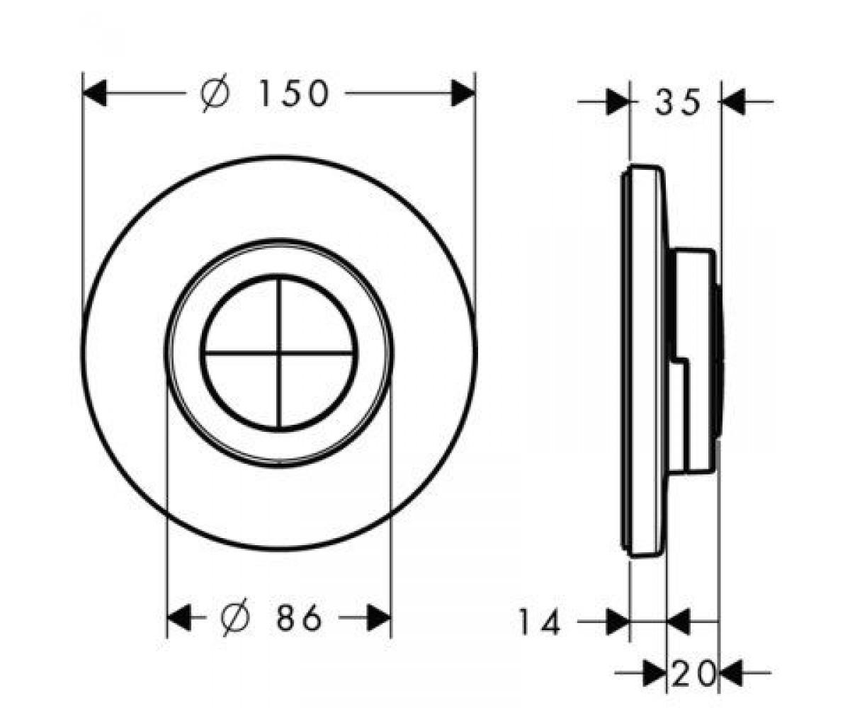 Внешняя часть HANSGROHE ICONTROL MOBILE 15942000