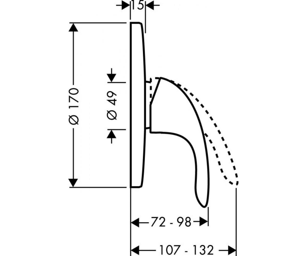 Внешняя часть смесителя HANSGROHE Focus E 31761000
