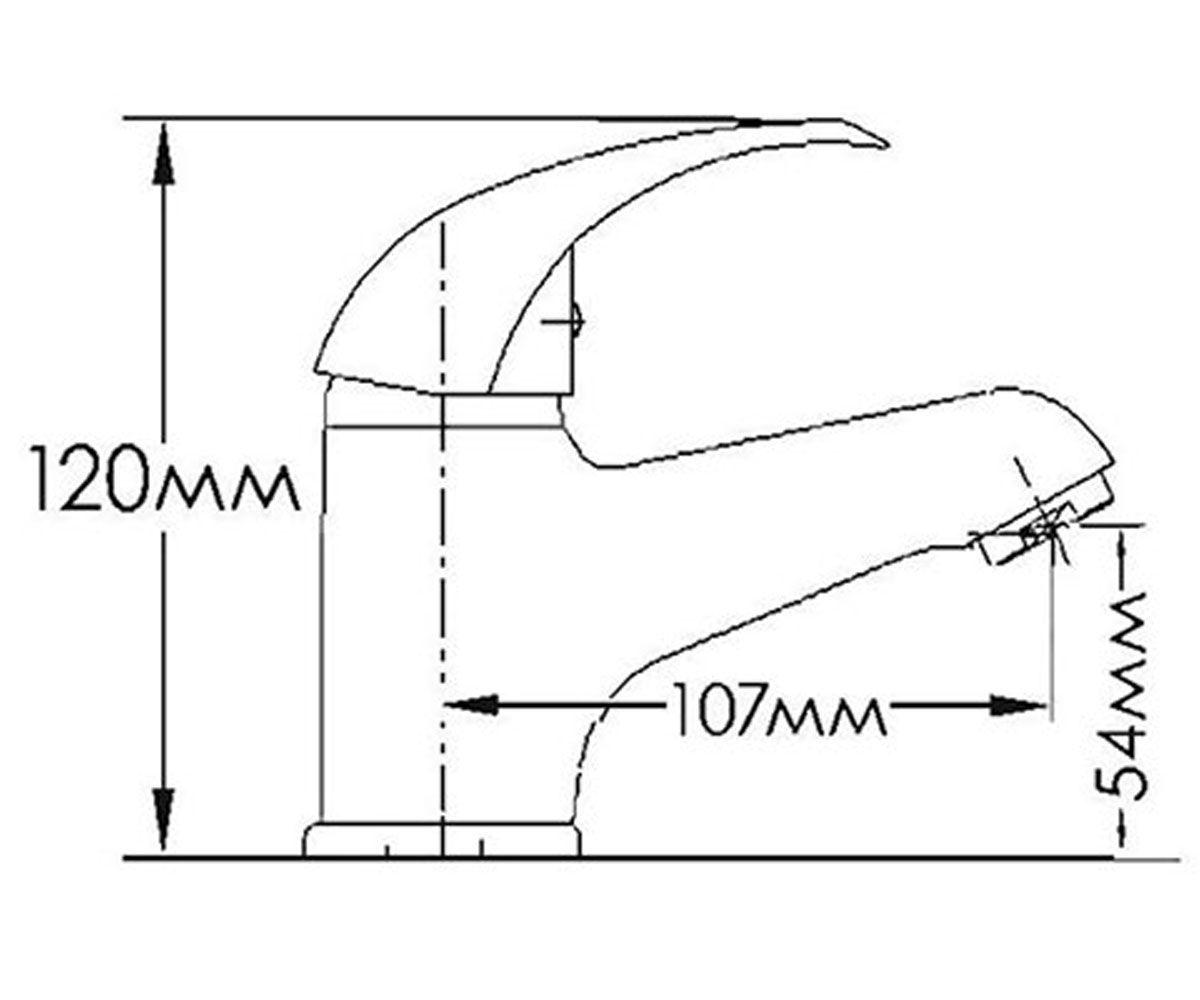 Смеситель для раковин FORMIX ФОРТУНА FM1301030C