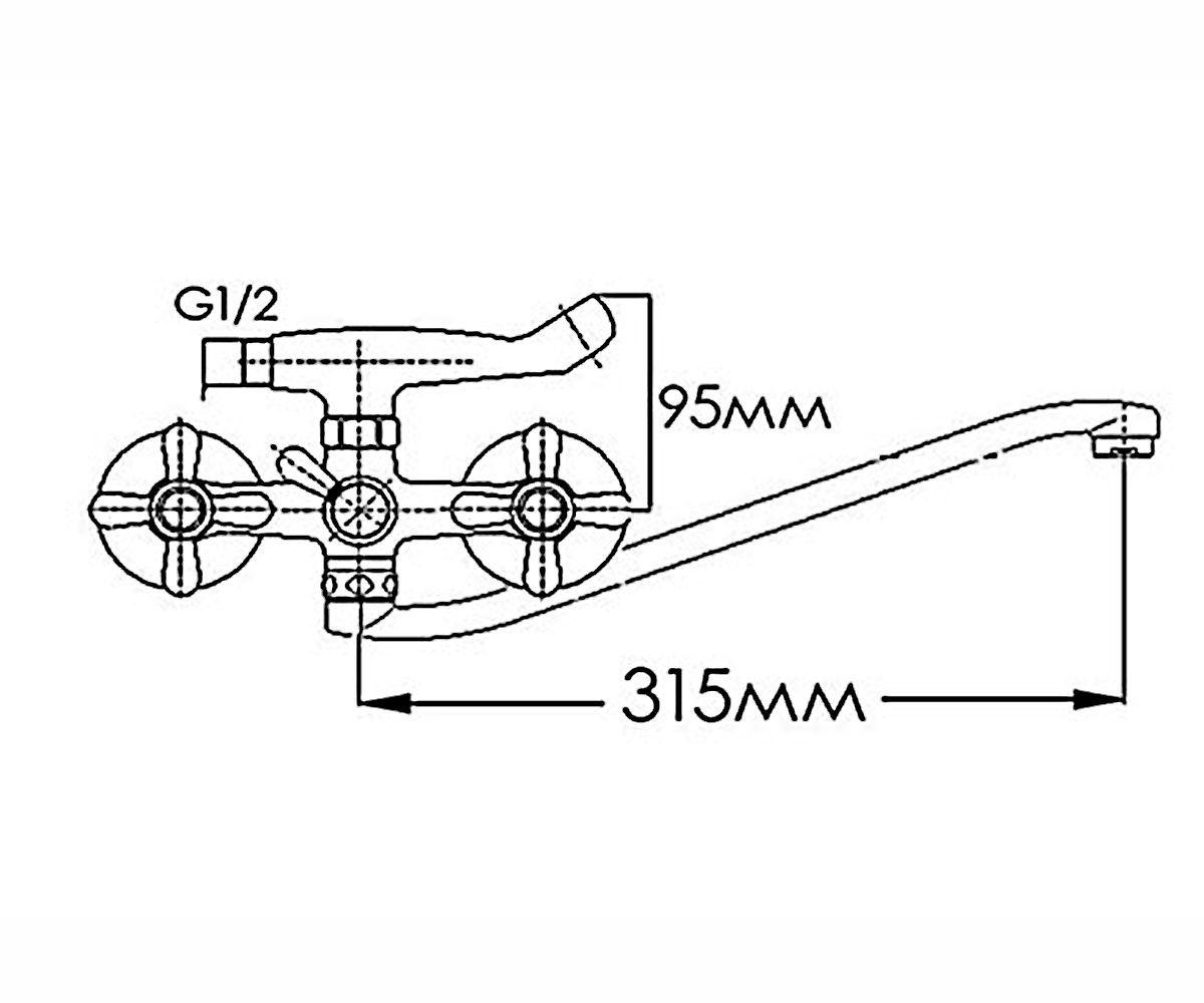 Смеситель для ванны FORMIX Ника FM2041805C-35S