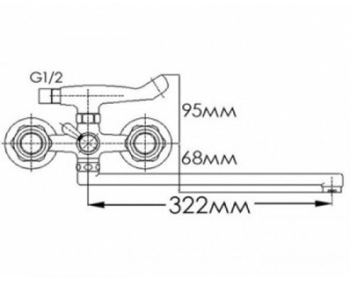 Смеситель для ванны FORMIX Ника FM2041816C-М7235F