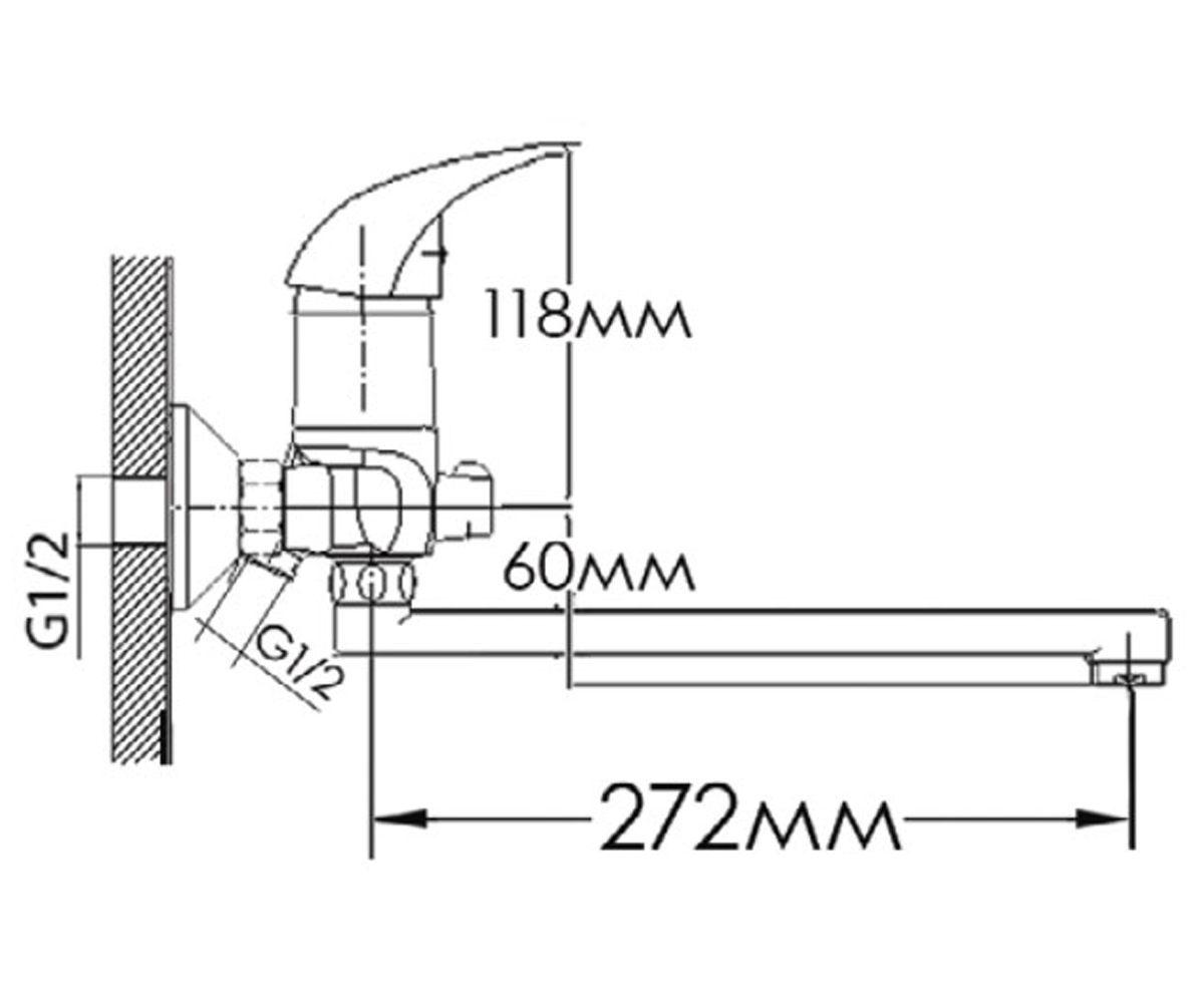 Смеситель для ванны FORMIX ФОРТУНА FM5335030C-30F