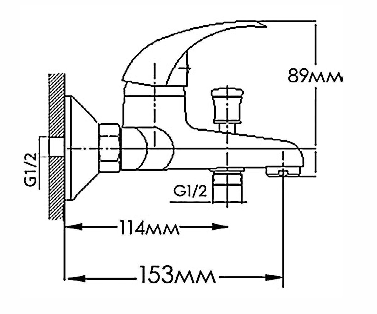 Смеситель для ванны FORMIX ФОРТУНА FM6307030C