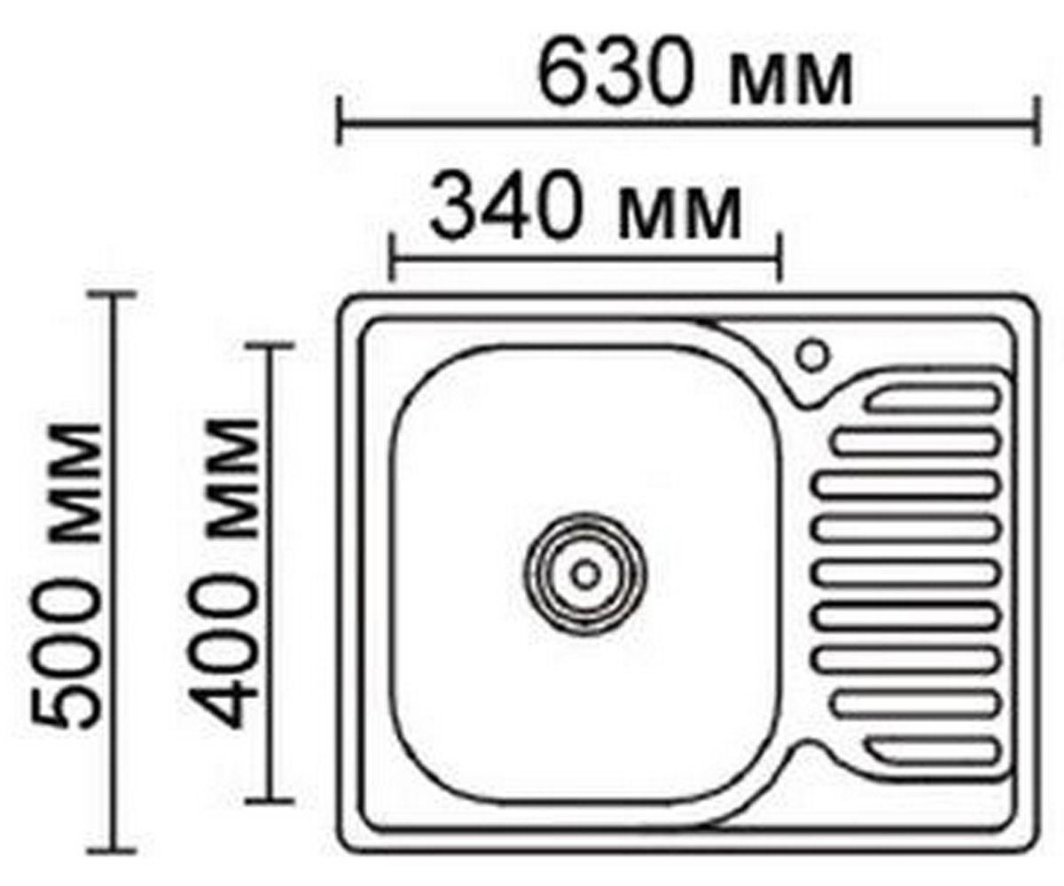 Стальная мойка FORMIX FM6350DK-R