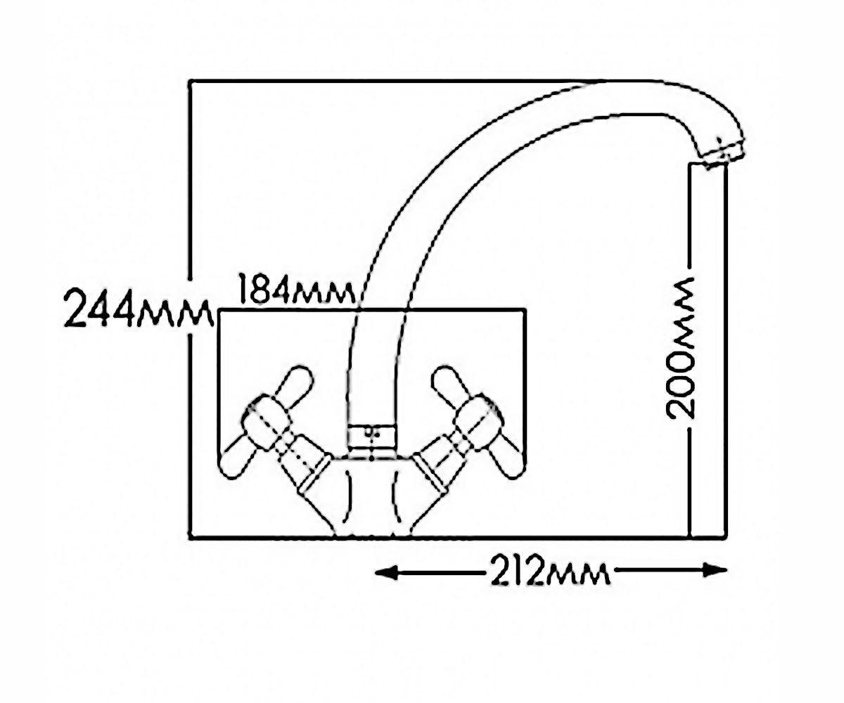 Смеситель для мойки FORMIX НИКА FM7002805C-М7313