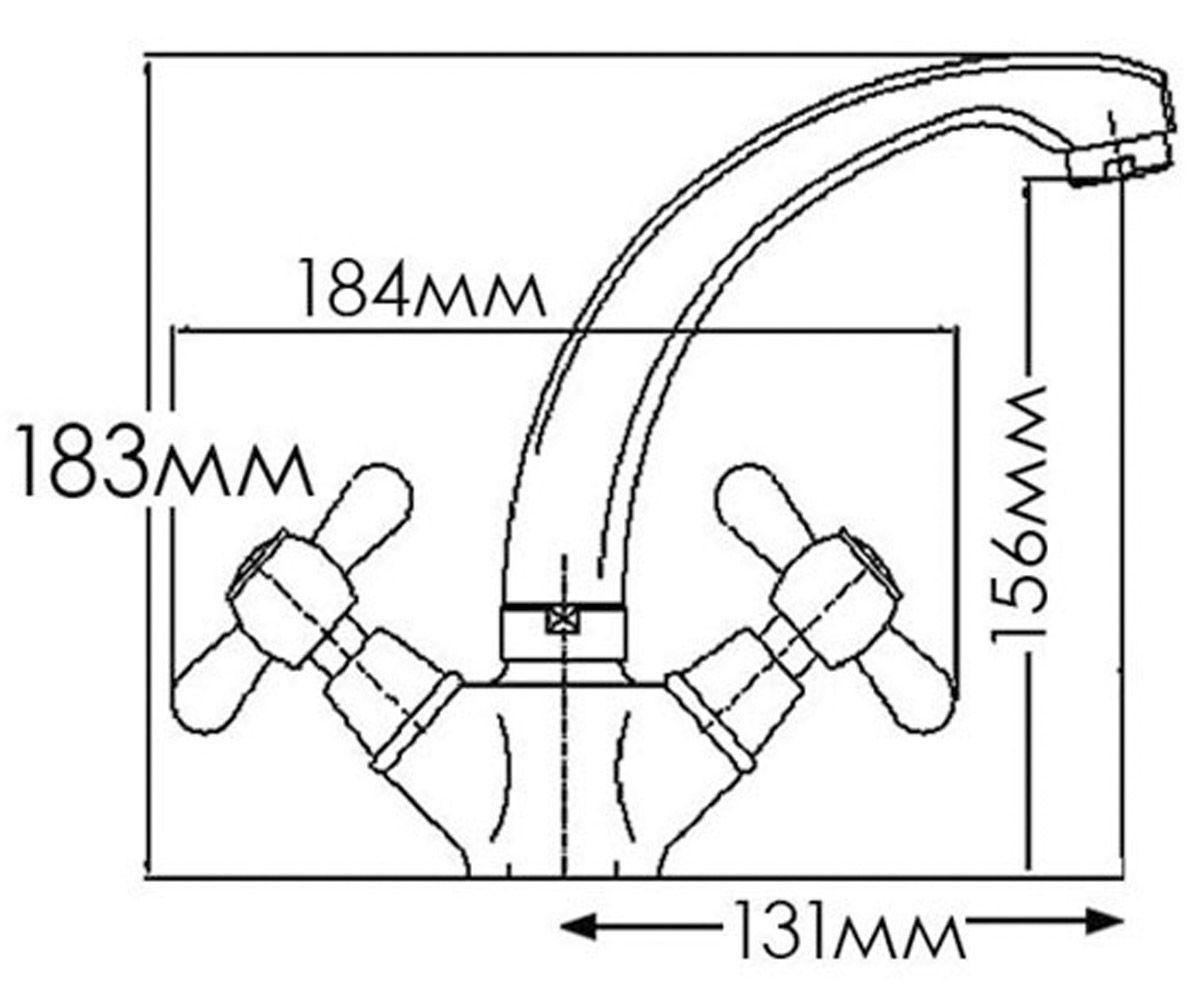 Смеситель для раковин FORMIX НИКА FM7002805C-M7321