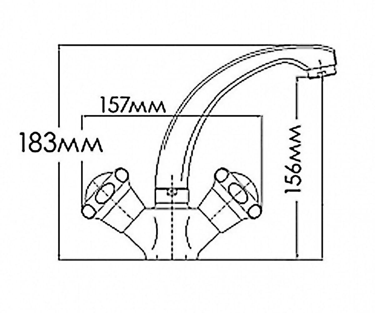 Смеситель для раковин FORMIX НИКА FM7002816C-М7321