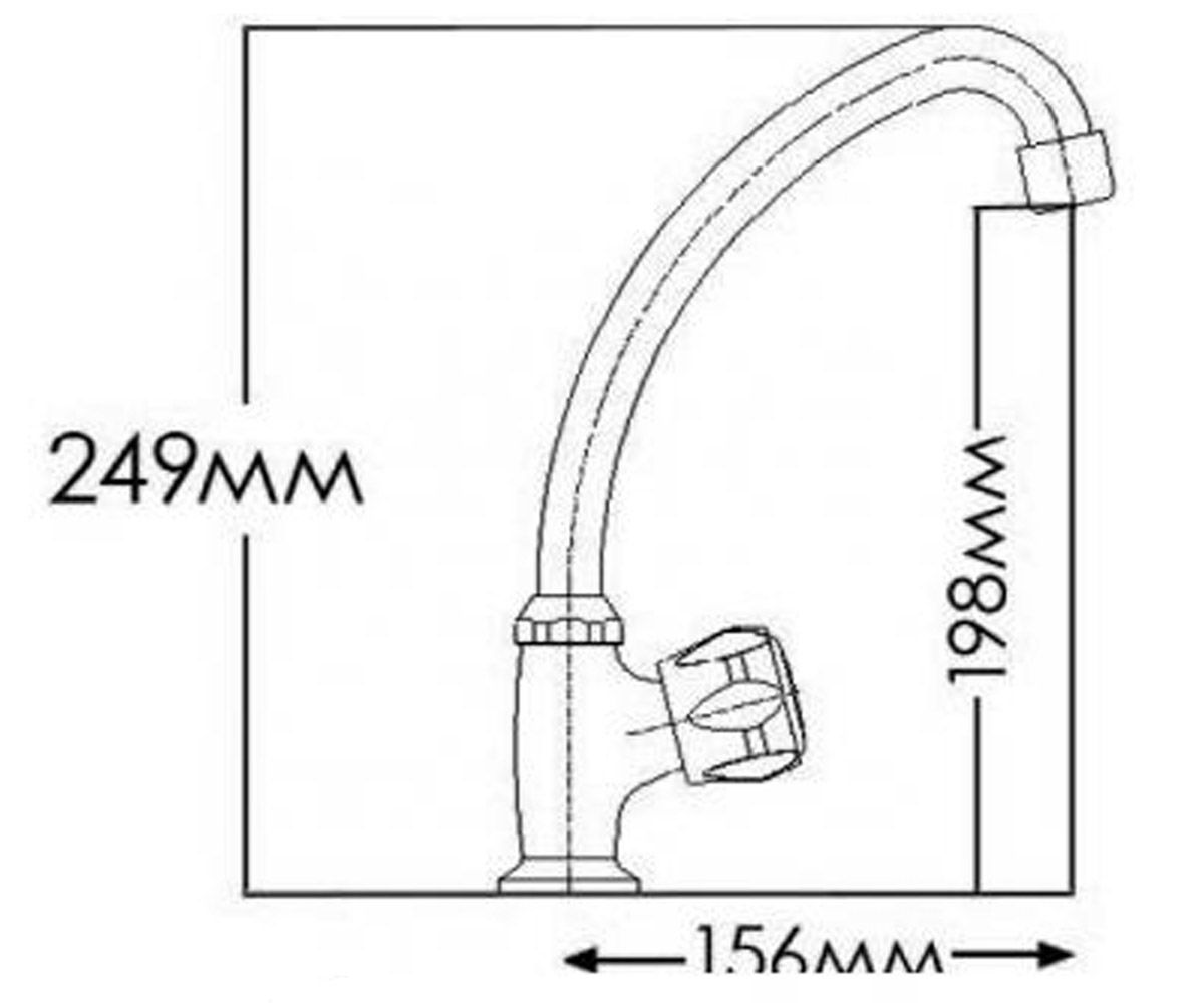 Кран на холодную воду FORMIX ВИРТУС FM7112861C-M7112