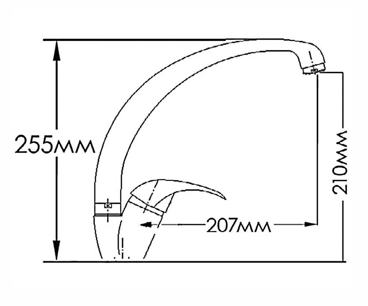 Смеситель для мойки FORMIX ФОРТУНА FM7313030C-M7313