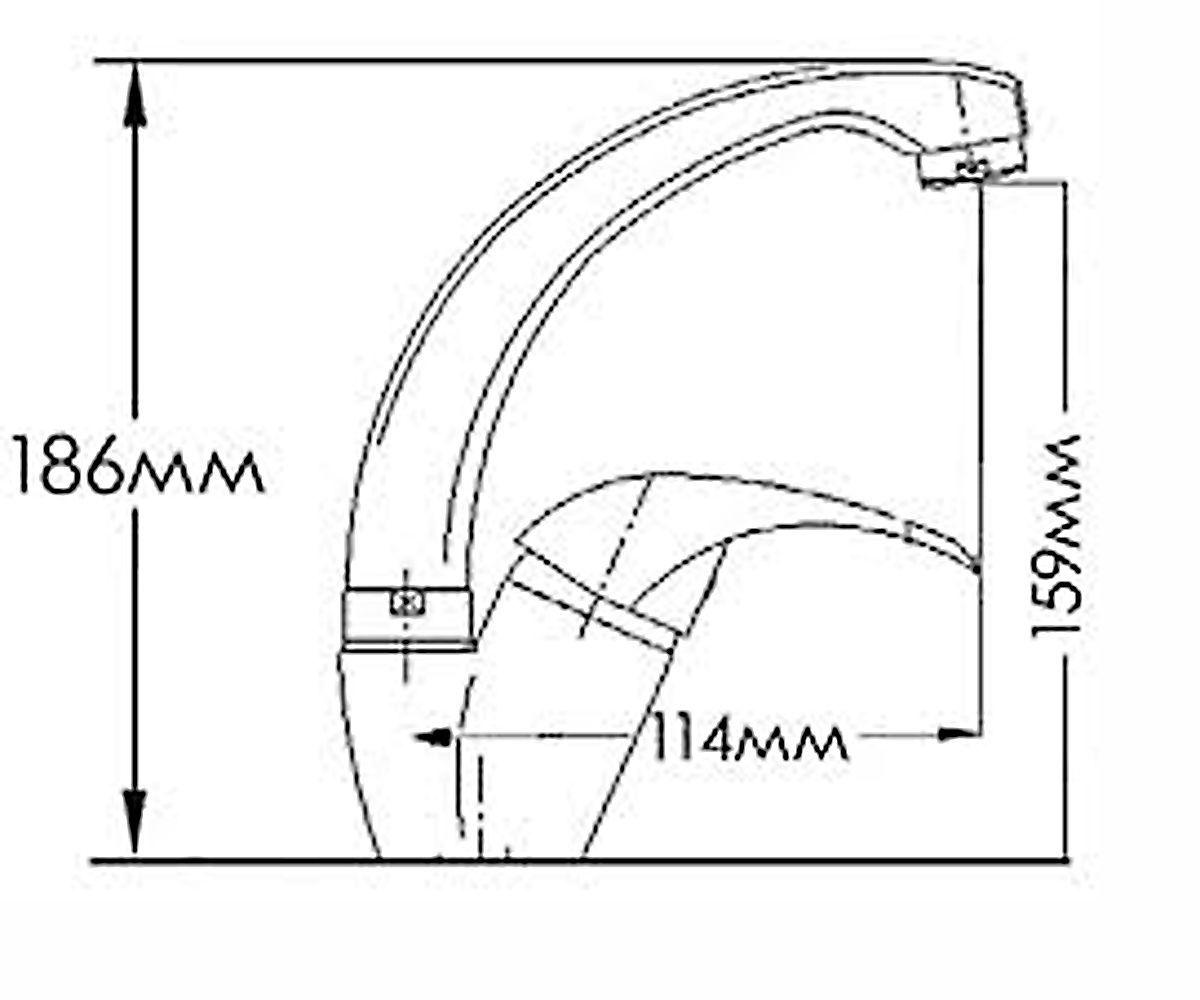 Смеситель для мойки FORMIX ФОРТУНА FM7313030C-M7321