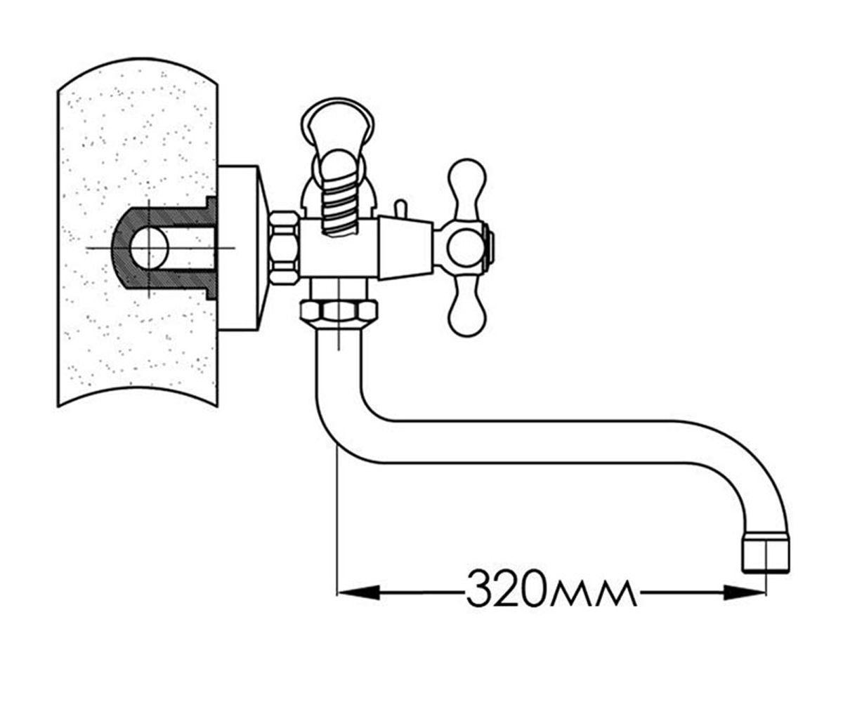 Смеситель для ванны FORMIX ВИВУС FMB001