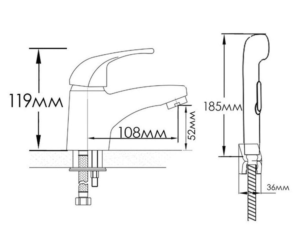Смеситель гигиенический душ FORMIX ВИВУС FMB003