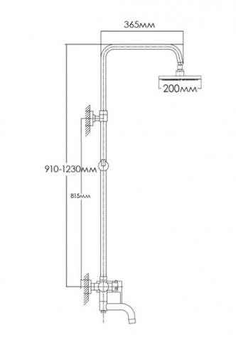 Душевая система FORMIX САРТА FMD 8812
