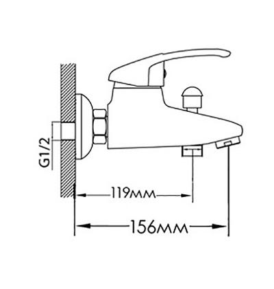 Смеситель для ванны FORMIX ЭЛИС FMXAL0306