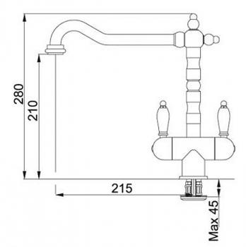 Кухонный смеситель FRANKE OLD-ENGLAND BICOMAND 115.0028.209