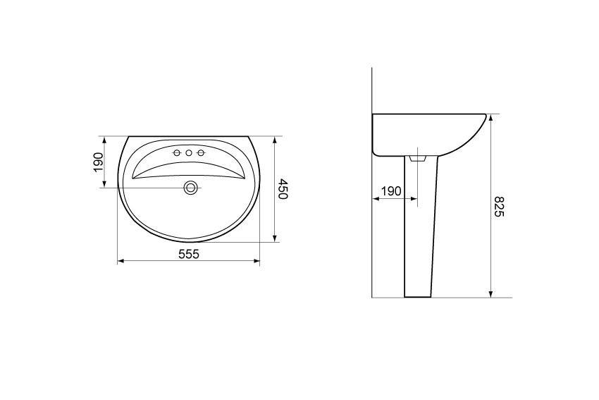 Раковина для монтажа на стену Devit Smart 1010146