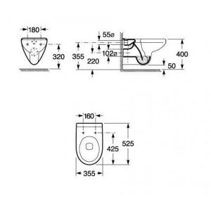 Комплект: инсталляция с подвесным унитазом 5 в 1 Roca Suprema Pro 434342