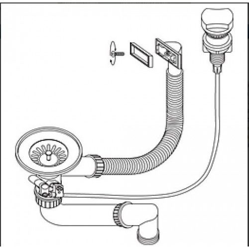 Вентиль для мойки Aquasanita SS-002V