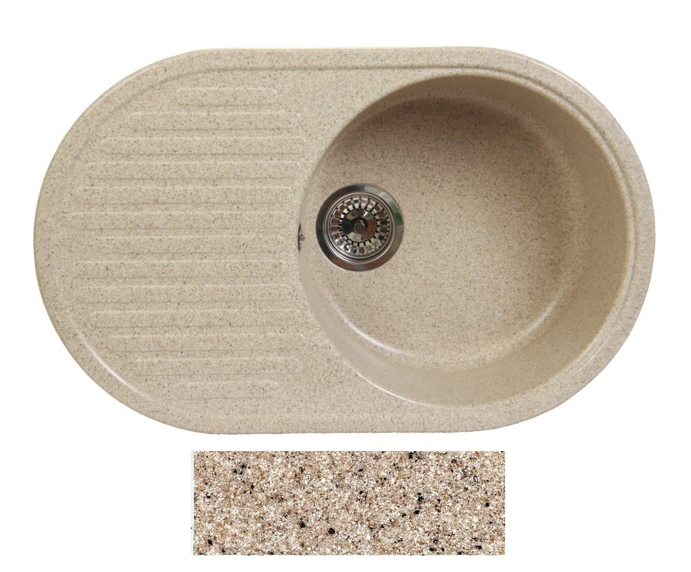 Мойка Fosto 74×46 300 песок