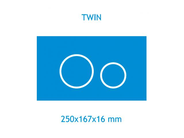 Панель смыва Koller Pool Twin Chrome