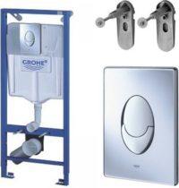 Rapid SL комплект для подвесного унитаза (бачек, крепеж, кнопка хром — двойн. слив)38721001(аналог 38750001) GROHE 38721001