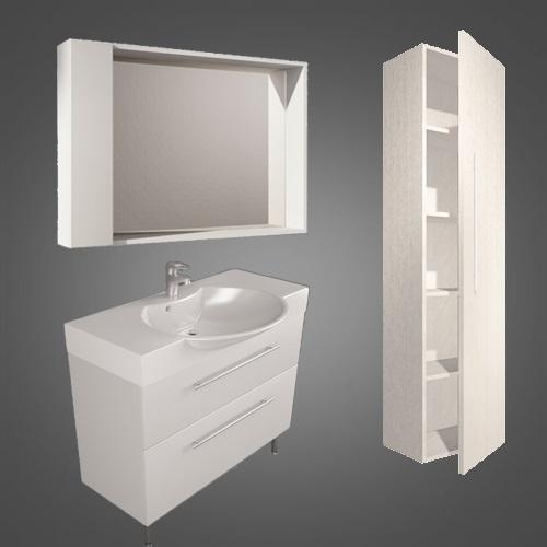 Мебельный комплект Буль-Буль SUMATRA 2w белый