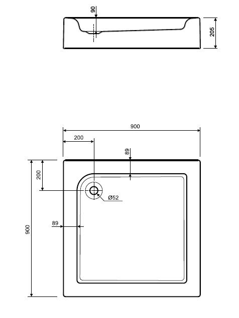 Поддон для душа Kolo Standart Plus XBK1490000
