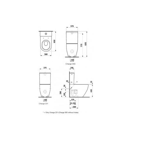 Чаша унитаза Laufen Pro New 8259520000001