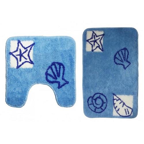 Набор ковриков для ванной комнаты KERAMAC Ракушки new 8000330