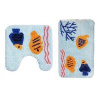 Набор ковриков для ванной комнаты KERAMAC Рыбки new 8000332