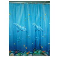 Шторка для ванной KERAMAC 180*180см Дельфины new