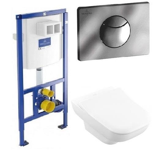 Комплект: инсталляция с подвесным унитазом 3 в 1 Villeroy&Boch 92246561 JOYCE Direct