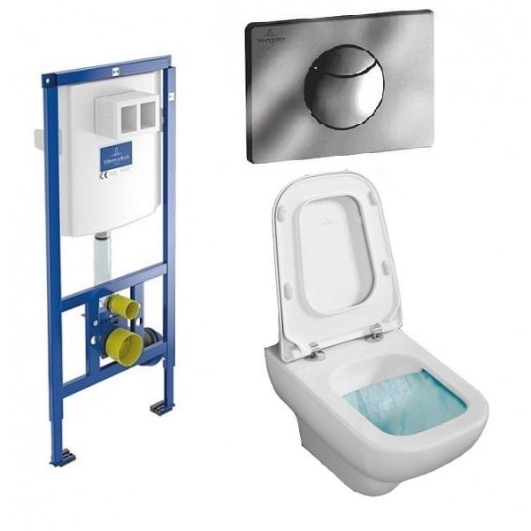 Комплект: инсталляция с подвесным унитазом 3 в 1 Villeroy&Boch 92246561 JOYCE Directslim