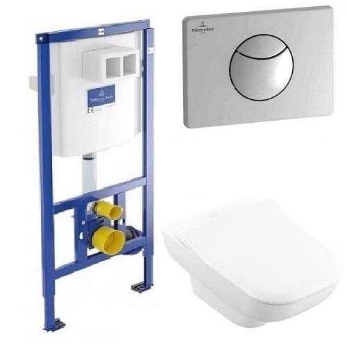 Комплект: инсталляция с подвесным унитазом 3 в 1 Villeroy&Boch 92246569 JOYCE Direct