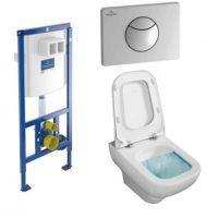 Комплект: инсталляция с подвесным унитазом 3 в 1 Villeroy&Boch 92246569 JOYCE Directslim