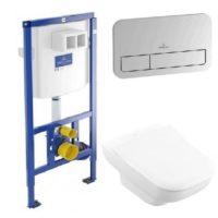Комплект: инсталляция с подвесным унитазом 3 в 1 Villeroy&Boch 92249061 JOYCE Direct